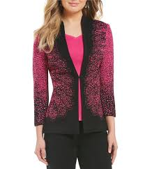 Patterned Blazer Womens Magnificent Jackets Womens Ming Wang Lace Patterned Jacket Dahlia Black Gift