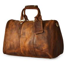 com brass tacks leathercraft men s full crazy horse leather utility classic overnight excursion duffel weekend buiness trip bag w shoulder strap