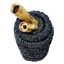 pocket hose top brass 3 4 in x 50 ft expanding garden hose