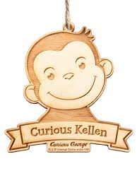 personalized ornament curious george curious kid wood ornament com