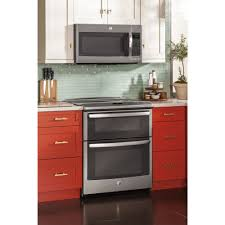side by side double oven electric range.  Oven Ft SlideIn Self Clean Convection Double Oven Range Throughout Side By Electric