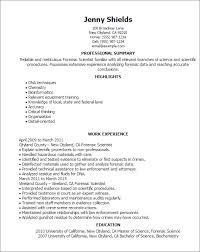 Forensic Lab Technician Resume