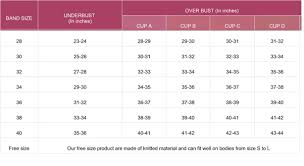 Bra Measurement Chart In India Bra Sizes Visual Chart Clipart Images Gallery For Free