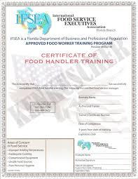 4 00 florida food handler certificates