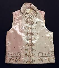 Metropolitan Museum: chaleco francés de 1785-1800 (Inventario: 24.160.2) |  Waistcoat, Costume institute, French silk