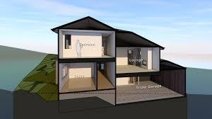split level home designs. Split Level Homes Downward Sloping Block Simple Home Designs A