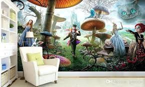 Charming Alice In Wonderland Bedroom Wallpaper Fantasy Custom Photo Wallpaper For  Walls 3 D Kids Room Bedroom Background Wall Bedroom Decorating Ideas On A  Budget