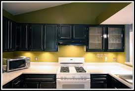 image of dark painting oak kitchen cabinets