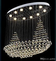 led crystal sailing lights restaurant chandeliers round bedroom lamps modern creative lighting pendant lighting drum pendant lights from guobini