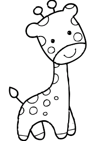 Small Picture Giraffe With Funny Face Coloring Pages For Kids dcS Printable