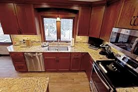 cherry cabinets with quartz countertop strongsville oh 1 transitional kitchen
