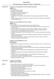 skills for sales representative resume medical sales representative resume samples velvet jobs