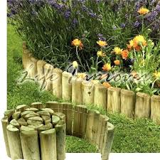 wood landscape edging 6 x 1 wooden garden border rolls lawn edging gardening log roll fence