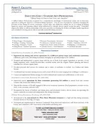 Cover Letter Executive Chef Resume Sample Free Sample Executive