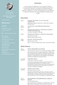 Public Programs Facilitator Resume samples