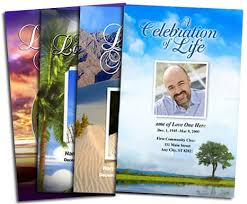 How To Make A Funeral Program Make Your Own Funeral Program With Ready Made Templates