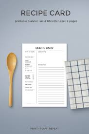 create your own printable cookbook or recipe binder and take control of the kitchen with these recipe card printables
