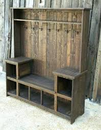 Entryway Bench With Coat Rack And Storage Beauteous Entryway Bench With Rack Wood Hall Tree Coat Rack Storage Entryway