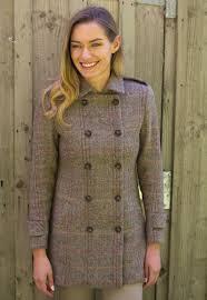 harris tweed scotland double ted winter coat at glenalmond