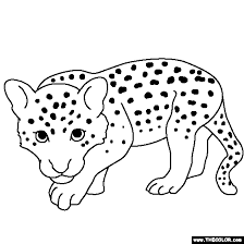 Baby Leopard Coloring Page