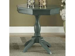 antique teal round accent table pedestal chupitos
