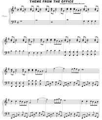 Full Theme Sheet Music Theoffice_us Livejournal