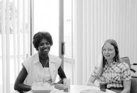 Linda Fobbs and Deborah Reagan at the Central Library - Historic Images -  Manatee County Public Library Digital Collection