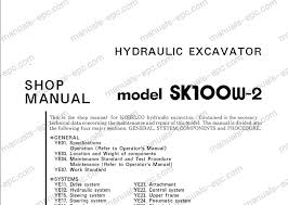 service manual for kobelco crawler excavator mini excavator kobelco excavators repair manuals