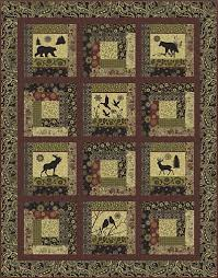 16 best images about Wildlife Quilting Fabric on Pinterest | Home ... & Log Cabin Wild Lap Quilt Kit! Adamdwight.com