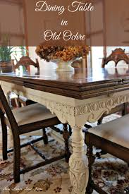 painted dining room furniturePainted Furniture Dining Room Table Update  New House New Home