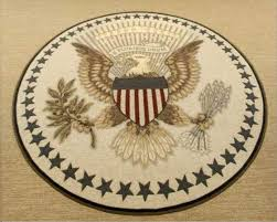 oval office carpet eagle. presidential seal depicted on president obama\u0027s new oval office carpet eagle