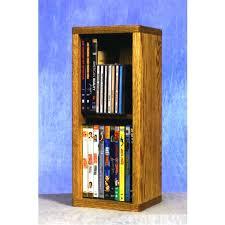 dvd storage furniture wood wood shed small capacity 2 shelf rack oak