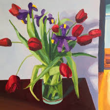 red tulips living room by ewen duncan