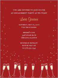 Gleaming Glasses Red Engagement Party Invitation Square Products