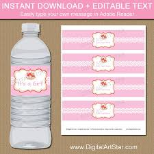 Decorating Water Bottles For Baby Shower Woodland Baby Shower Water Bottle Labels Girl Fox Baby 31
