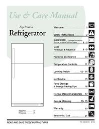 Frigidaire Freezer Warning Lights Frigidaire Glrt186ta Top Freezer Refrigerator Manualzz Com