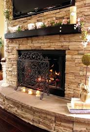 installing stacked stone fireplace surround fireplaces indoor diy outdoor
