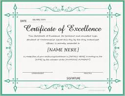 Certificate Of Excellence Template Word Stunning Pin By Alizbath Adam On Certificates Pinterest Certificate