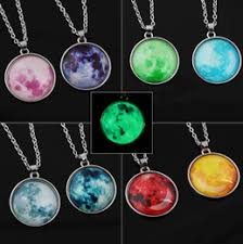 nebula e pendant glow in dark astronomy geek jewelry science galaxy e necklace gl dome pendant jewellery xmas gift