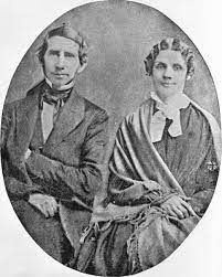 Reverend Stephen Riggs and his wife, Mary Riggs   MNopedia