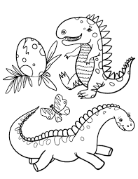 Small Picture Free Baby Dinosaur Coloring Page