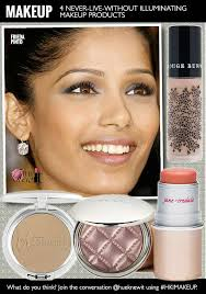 makeup hacks frieda pinto wearing illuminating makeup s home face makeup make your face glow how