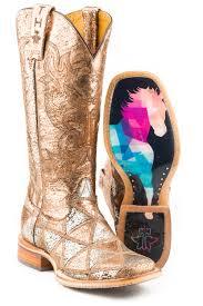 Tin Haul Womens Mish Mash Geometric Steed Sole Cowboy Boots