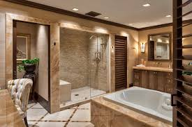 rustic stone bathroom designs. bathroom with large shower and tub plus marble wood tile stone rustic designs
