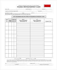 Car Mileage Claim Form Free 30 Claim Form In Templates Pdf