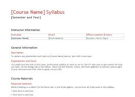 Teacher Syllabus Teacher Syllabus Template Syllabus Templates For Teachers