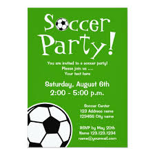 Soccer Party Invite Soccer Party Invitations For Birthdays Or Bbq