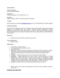 Property Manager Cover Letter Efficient Imagine Estate 22