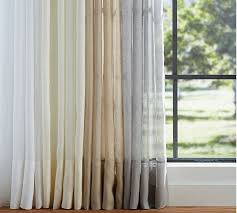Gray and beige curtains Grommet Pottery Barn Belgian Flax Linen Sheer Curtain Flax Pottery Barn