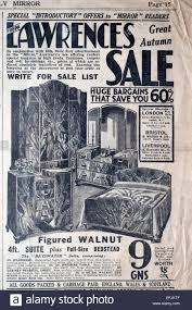 Furniture sale advertisement 25th Newspaper Advertisement Cutting From The Late 1930s Early 1940s For Lawrences Store Furniture Sale Theblackfridaycom Newspaper Advertisement Cutting From The Late 1930s Early 1940s For